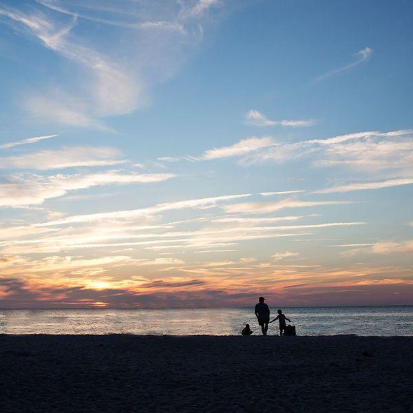 Cape cod sunset mayflower beach