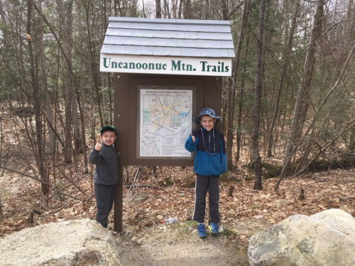 Hiking Uncanoonuc Mt. Trails in Goffstown